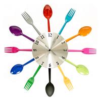 Часы настенные «Вилки-ложки», цвет: мульти