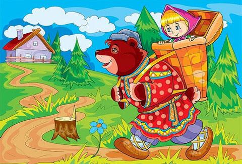 Тест по сказке «Маша и медведь»